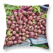 Beets At The Farmers Market Throw Pillow