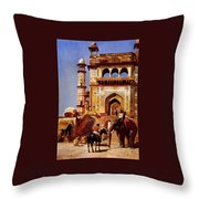 Before A Mosque 1883 Throw Pillow