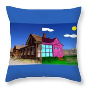 Before And After House Throw Pillow