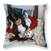 Before Bedtime Throw Pillow