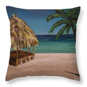 Before Hours Throw Pillow