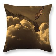 Before Memory . I Have Soared With The Hawk Throw Pillow