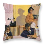 Before School Throw Pillow
