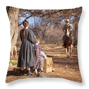 Before The Battle For Socorro Throw Pillow