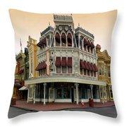 Before The Gates Open Magic Kingdom Main Street. Throw Pillow