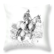 Before The Hunt Throw Pillow