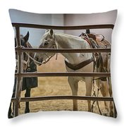 Before The Rodeo Throw Pillow