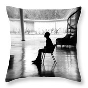 Before The Show Blurred Throw Pillow