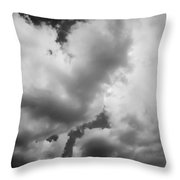 Before The Storm Clouds Stratocumulus 5 Bw  Throw Pillow