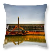 Before Working Day Throw Pillow