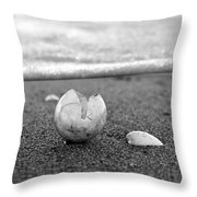 Beginnings Black And White Throw Pillow