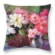 Begonias Throw Pillow
