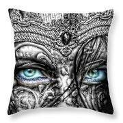 Behind Blue Eyes Throw Pillow