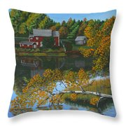 Behind Rollie's House Throw Pillow