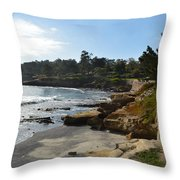 Behind The 18th At Pebble Beach Throw Pillow