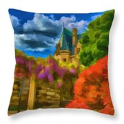 Behind The Biltmore Throw Pillow