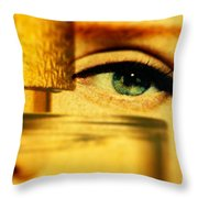 Behind The Bottle Throw Pillow