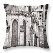 Behind The Cathedral Throw Pillow