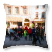 Behind The Crowd Throw Pillow