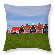 Behind The Dike Throw Pillow