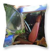 Behind The Driver's Seat Throw Pillow