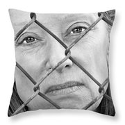 Behind The Fence Throw Pillow