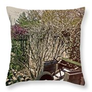 Behind The Garden Throw Pillow by Tom Gari Gallery-Three-Photography
