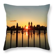 Behind The Gates Throw Pillow