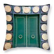 Behind The Green Doors - Sao Paulo Throw Pillow