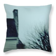 Behind The House Throw Pillow by Margie Hurwich