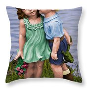 Behind The Kiss Throw Pillow