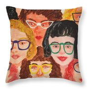 Behind The Lenses Throw Pillow