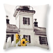 Behind The Lighthouse  Throw Pillow