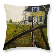 Behind The Old Church Throw Pillow