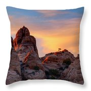 Behind The Rocks Throw Pillow