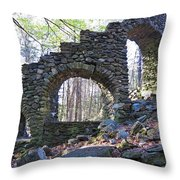 Behind The Stairs Throw Pillow