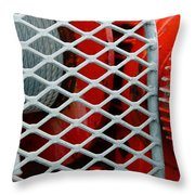 Behind The Wire Throw Pillow