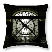 Behind Time Throw Pillow