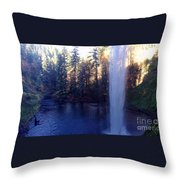 Behind Water Fall  Throw Pillow