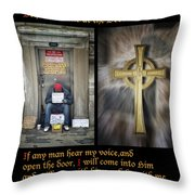 Behold I Stand At The Door Composite Throw Pillow