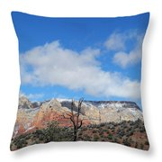 Behold The Blue Sky Throw Pillow
