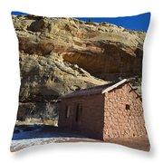 Behunin Cabin Capitol Reef National Park Utah Throw Pillow