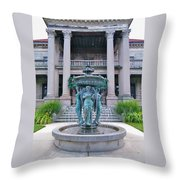 Beiger Mansion Front Entrance Throw Pillow