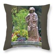 Beiger Mansion Statue Throw Pillow