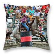 Being Clocked Throw Pillow by Gary Keesler