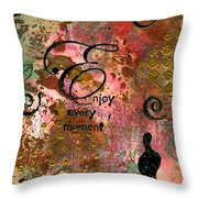 Being Fully Present In This Life Today Throw Pillow