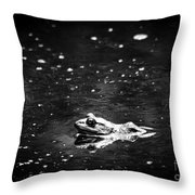 Being Green In Black And White Throw Pillow
