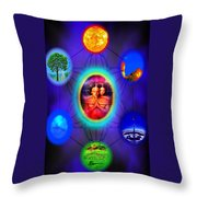 Life Force Connection Throw Pillow