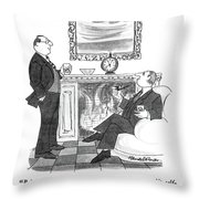 Being In Possession Of Great Wealth Made Me A Bit Throw Pillow