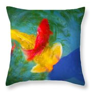 Being Koi Too Throw Pillow